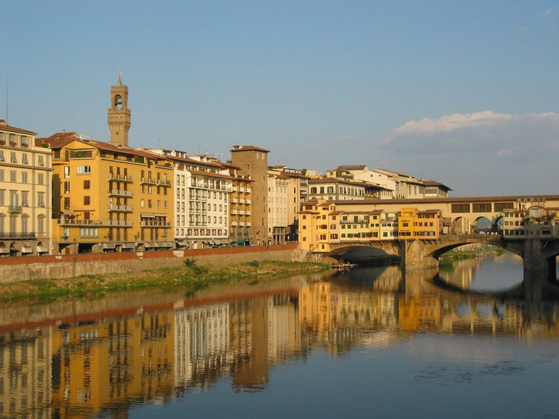 Florence Italy and the Arno River