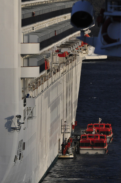 Tenders on a cruise ship