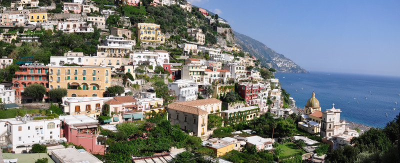 The best view of Positano Italy along the Amalfi Coast.