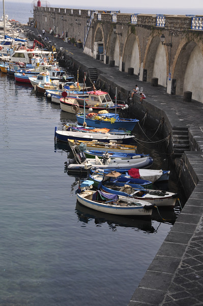 Boats lined up, Amalfi, Italy