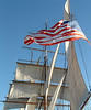 Tall ship along the San Diego waterfront.