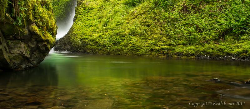 Bridal Veil Falls - The River below the falls