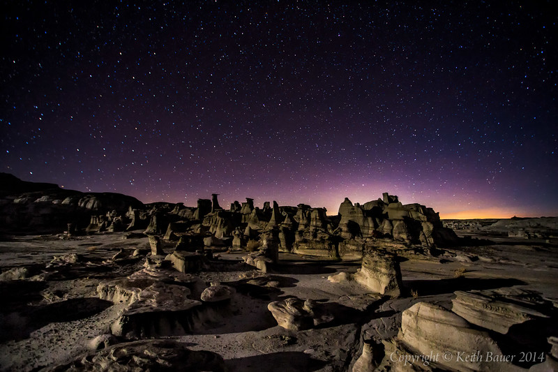 Bisti Wilderness - Moonlit Moonscape