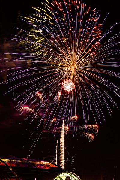 Fireworks over University of Delaware 4th of July Celebration