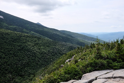 View down the Franconia Ridge to Mt. Liberty and beyond.
