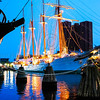 Juan Sebastian De Elcano (Spanish Naval Training Ship) - Baltimore Inner Harbor and National Aquarium 2008