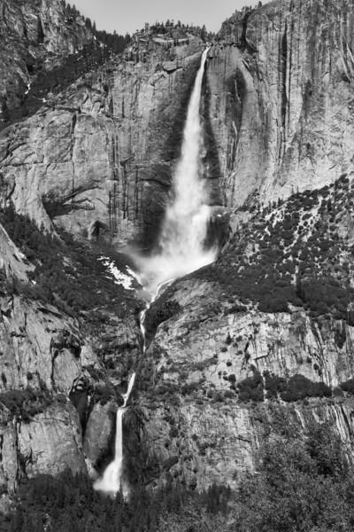 Yosemite Falls 1 (BW)