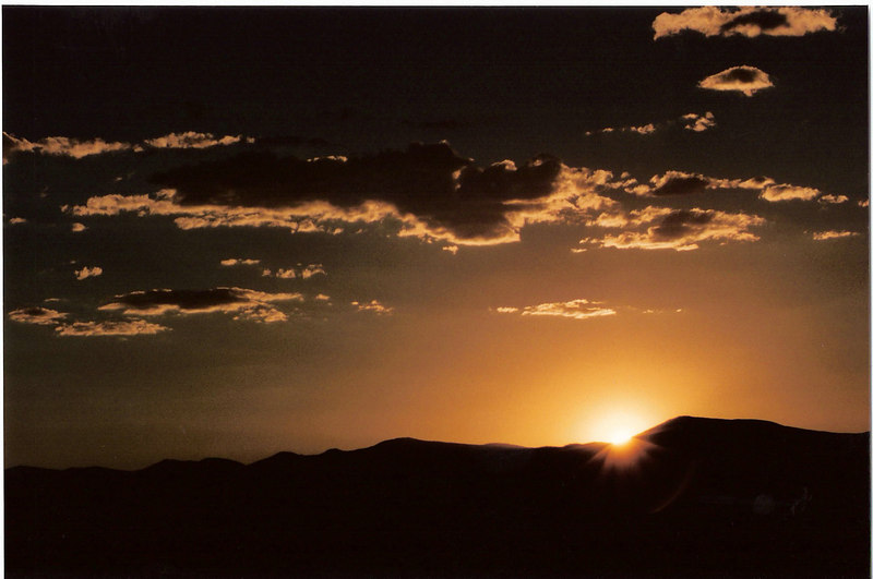 Sunset in New Mexico<br /> (scanned)