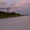 Sanibel Island light at sunset