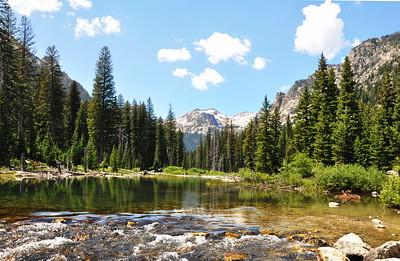 The head of Cascade Canyon Trail, Grand Teton National Park July 2015