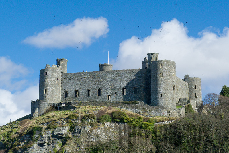 Harlech Castle, Harlech, North Wales from Royal St. David's Golf Club