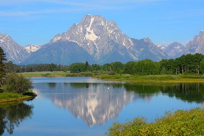 Famous Oxbow Lake in Grand Teton National Park - July 2012