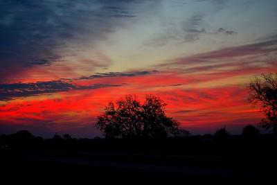 Sunrise on November 26, 2016 in Brenham, Texas