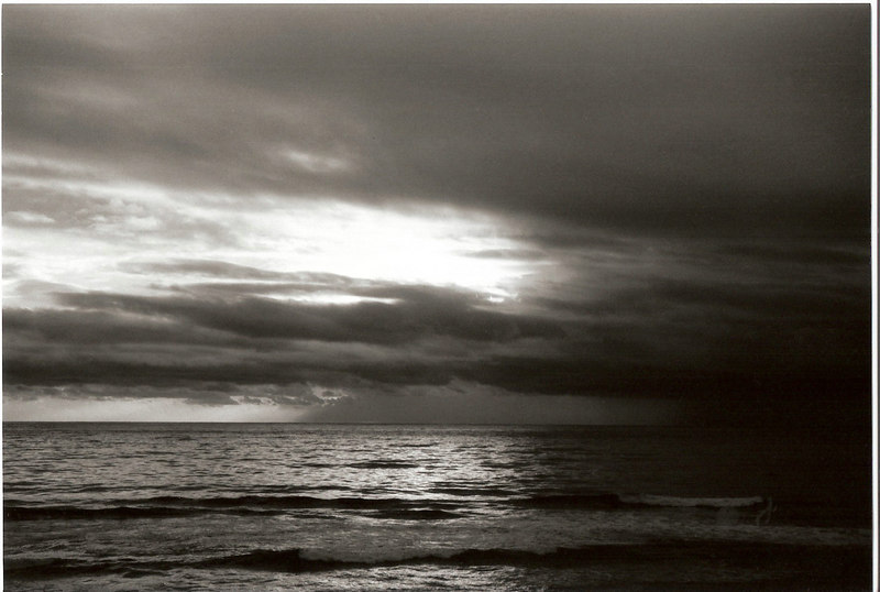 Mendocino Coast on one cloudy day.<br /> <br /> (B&W scanned)