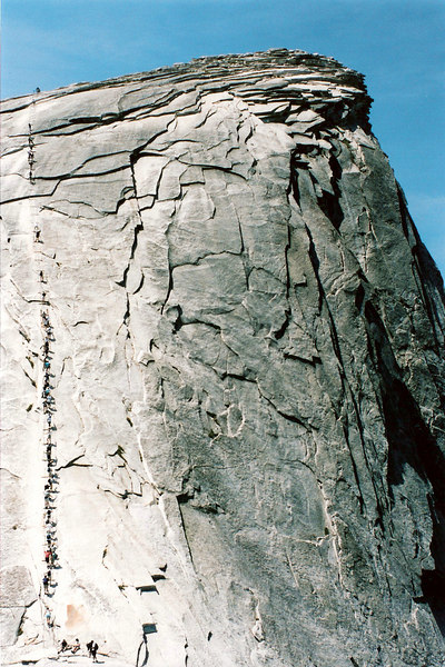 Half Dome Ant Trail<br /> (scanned)