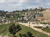 Jerusalem; view of the Christian Quarter and Arab village outside the Old City walls.