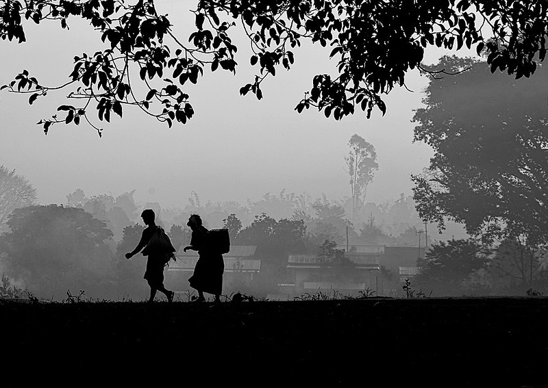 Morning Commute Pindaya Burma