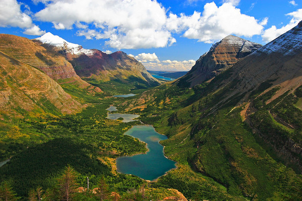 Glacier National Park View from Devil's Elbow