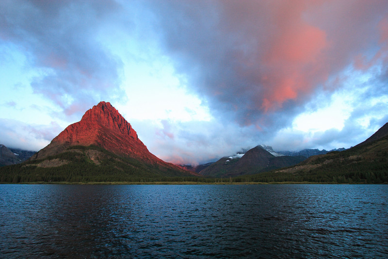 Red Sunrise<br /> Many Glacier Lake