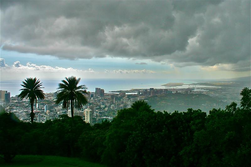 Overlooking Honolulu
