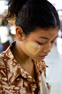 Burmese Girl at Scott Market-Yangon, Burma