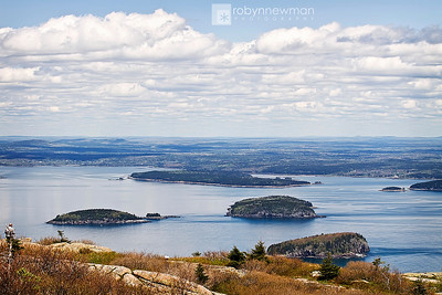 Top of Cadillac Mountain in Acadia National Park, Mount Desert Island, Maine