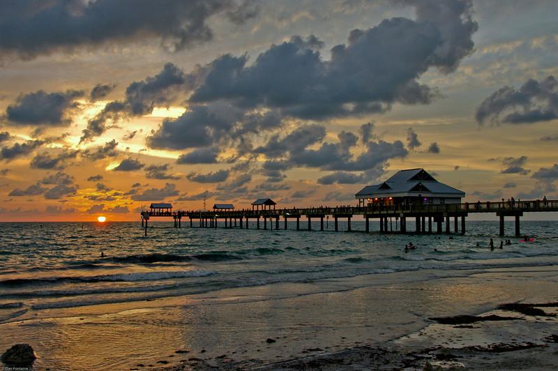 Pier Sunset<br /> Clearwater Beach, FL