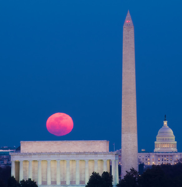 Snow Moonrise Over DC