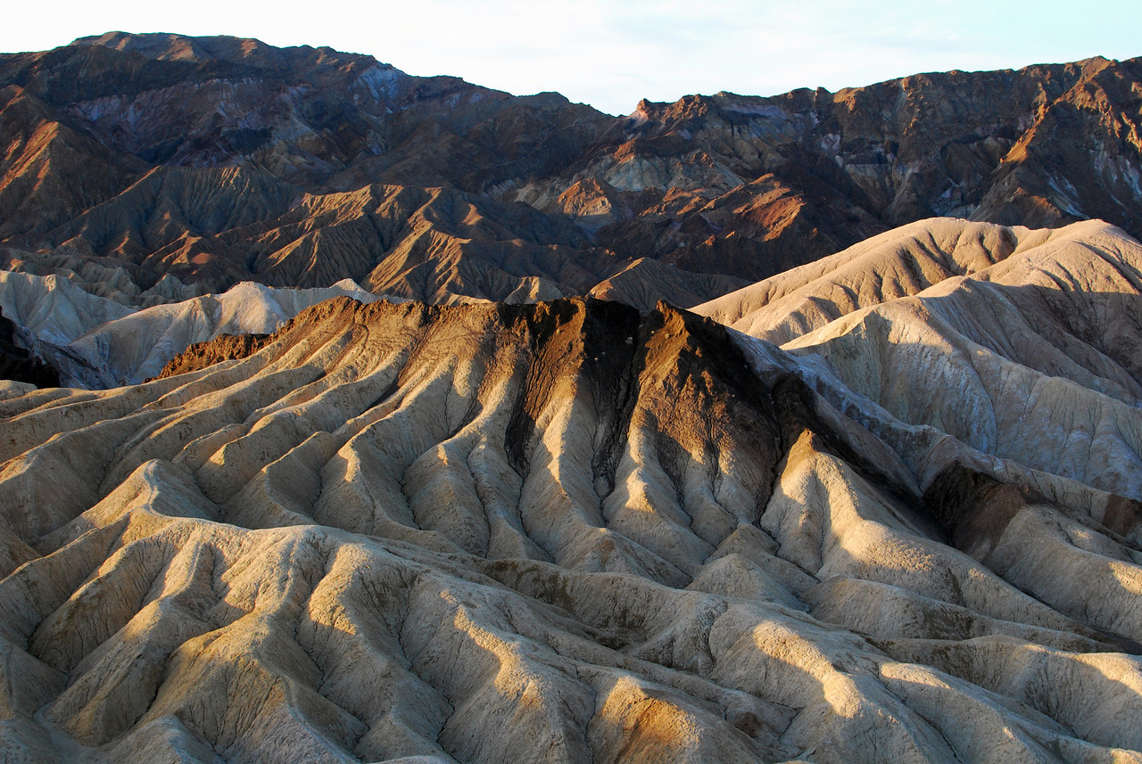 Zabriskie Point in the morning.