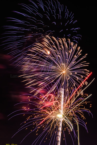 Fireworks over University of Delaware 4th of July Celebration  2019