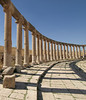 Jerash, Jordan; Forum detail (main marketplace of the Roman-era city)