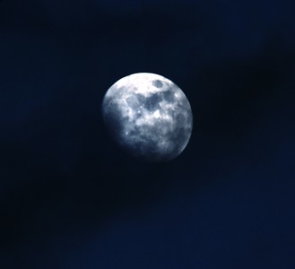 Moon over Austin Texas Copyright (c) Photo by Barry Jucha