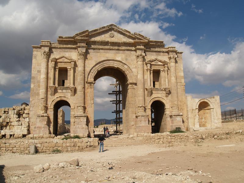 Jordan; entrance gate to Jerash