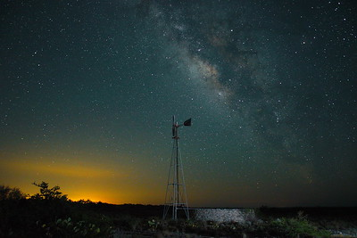 The Lone Windmill, Comstock, Texas