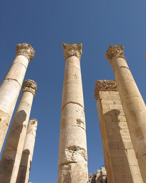 Jerash, Jordan; Roman columns