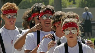 Warmups  (Band Competition, Pasadena, California)