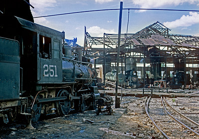 January 1968.  The roundhouse at Merida had obviously been through some hurricanes.