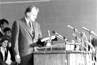 Rev. Billy Graham at GWU 1971