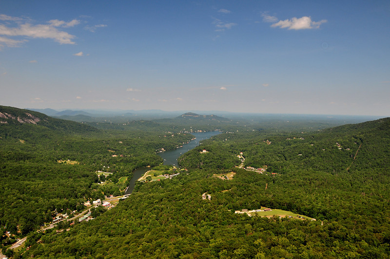 Lake Lure seen from Chimney Rock.