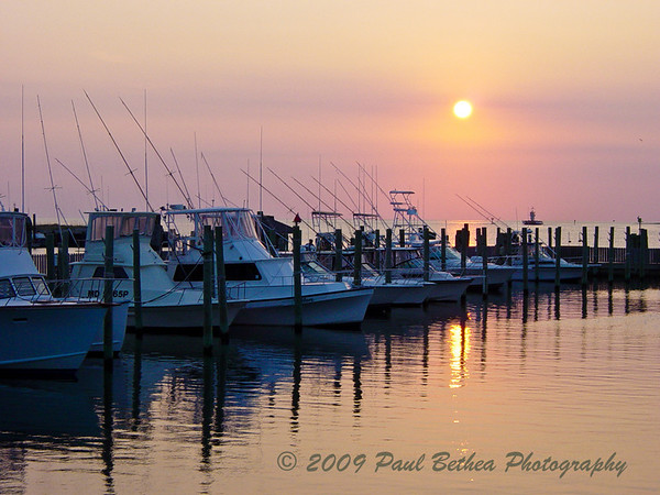 Sunset, Hatteras Village, Outer Banks, North Carolina.