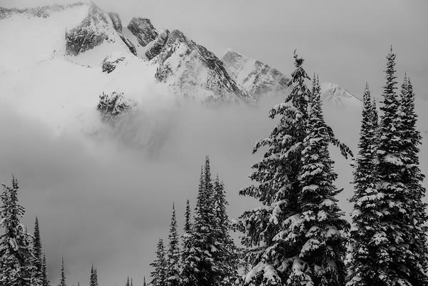Foggy ridge, Valhalla Range, British Columbia, Canada