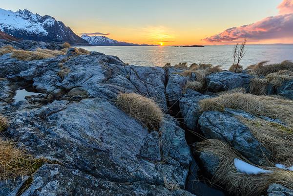 Sunrise.  Lofoten Islands, Norway