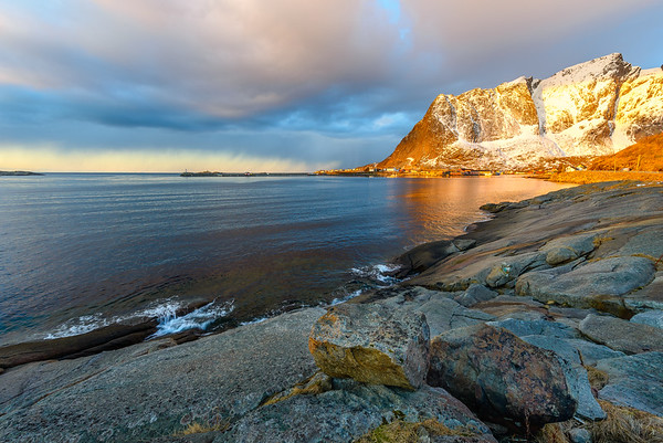 Evening light.  Lofoten Islands, Norway