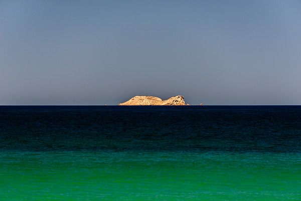Solitary island.  Sea of Cortez, Baja, Mexico