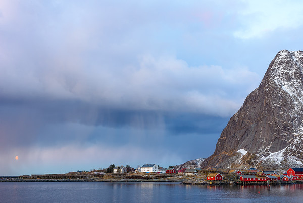 Early morning weather in Reine.  Lofoten Islands, Norway