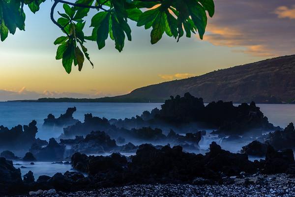 Coastal lava.  Big Island, Hawaii