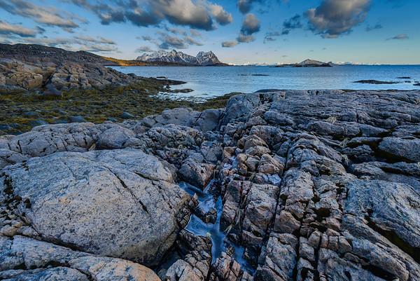 Ice.  Lofoten Islands, Norway