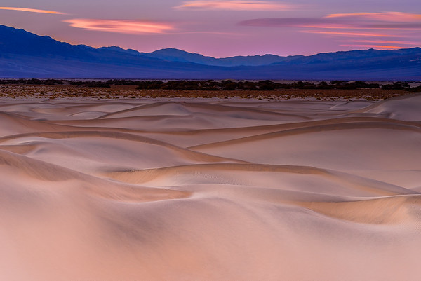 Pink sand dunes, Death Valley National Park