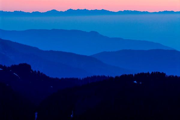Sunset from Mt Baker, Washington