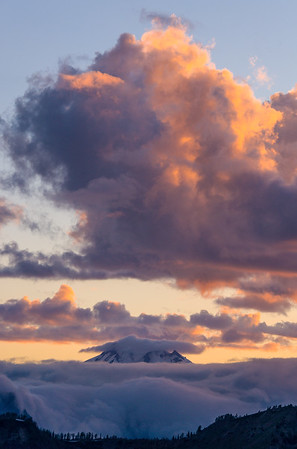 Clouds over Glacier Peak, Washington